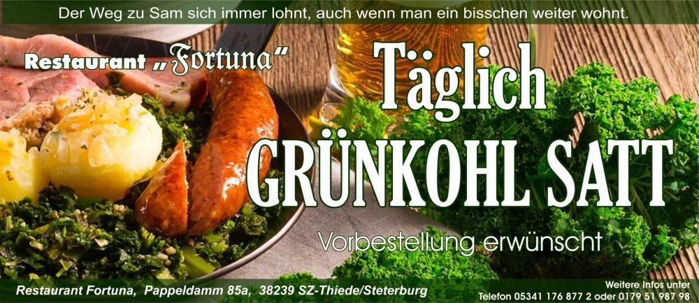 Grünkohl im Restaurant Fortuna